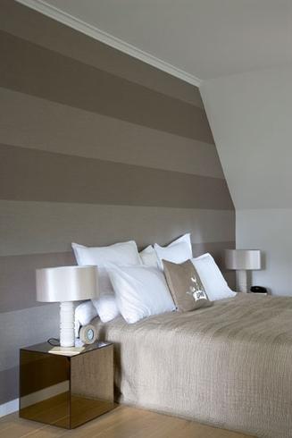 Voor en na in overijse actief wonen - Behang patroon voor de slaapkamer ...