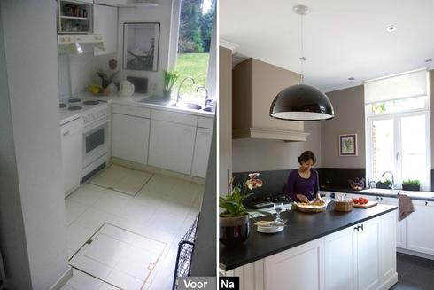 Voor en na in overijse actief wonen - Uitbreiding keuken veranda ...