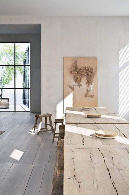 Een tafel van ruw hout?   actief wonen