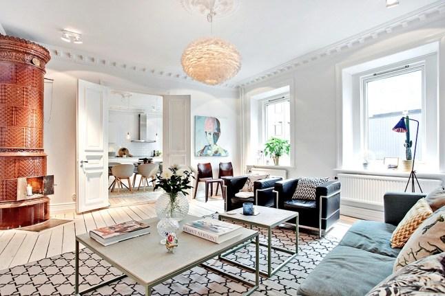 De Scandinavische Keuken : de stijl de keuken komt van bij kvik de stoelen zijn van het merk hay