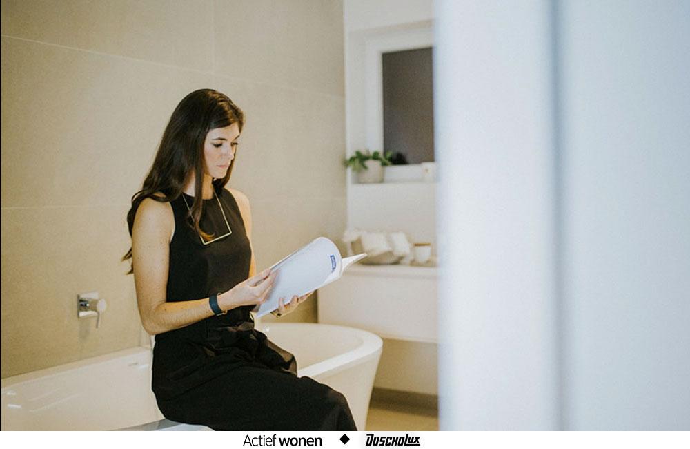 Ontdek de badkamertrends met Anouk Taeymans en Duscholux
