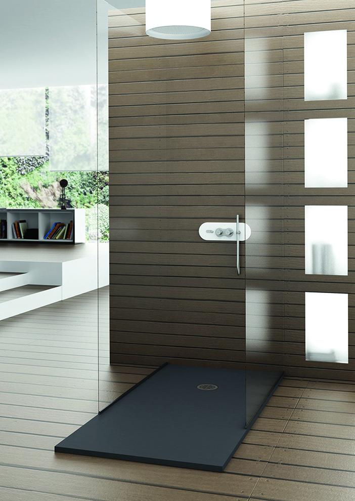 Inloopdouche polymeer ontwerp inspiratie voor uw badkamer meubels thuis - Douche italiaans ontwerp ...