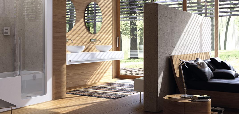 Een open badkamer wel of geen goed idee actief wonen - Slaapkamer met open badkamer ...