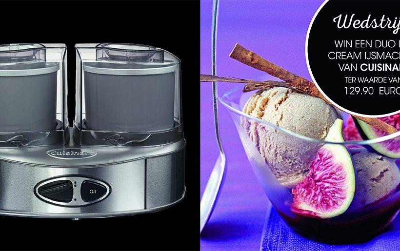Win één van de vier nieuwe Duo Ice Cream ijsmachines van Cuisinart