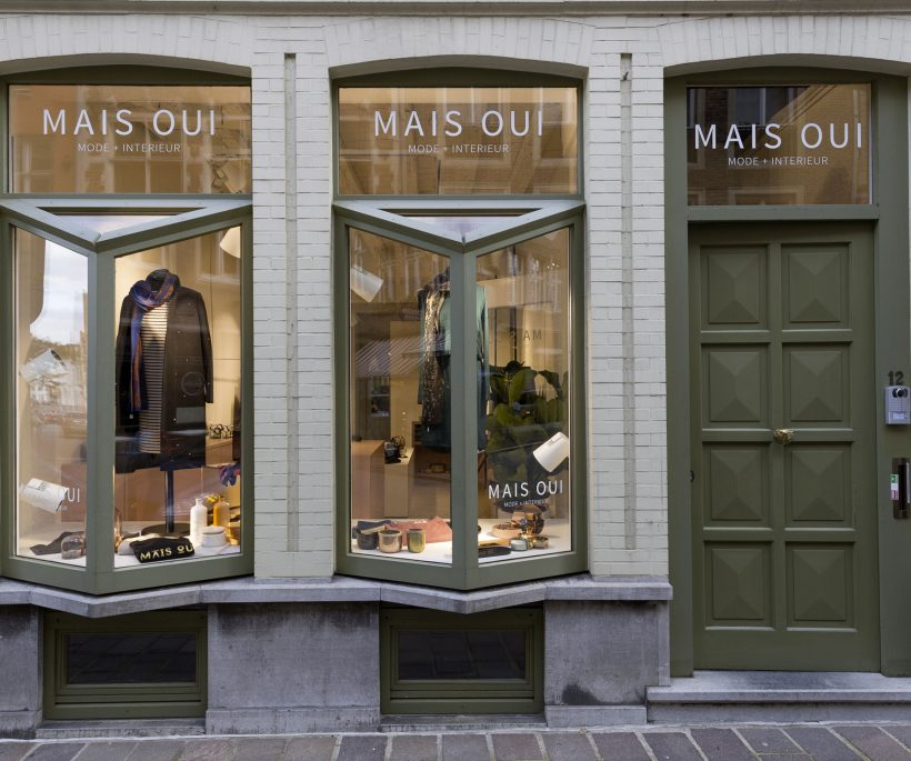Nieuwe concept store MAIS OUI in Brugge