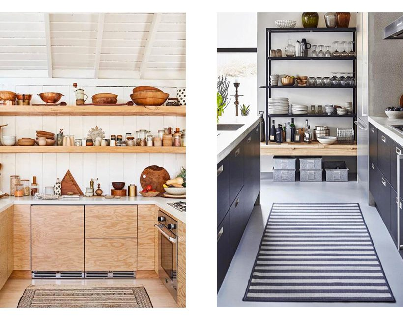 Keukenstijl open en bloot