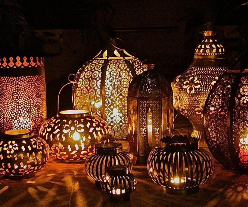 Fotoforen zijn lantaarns met lichtspel