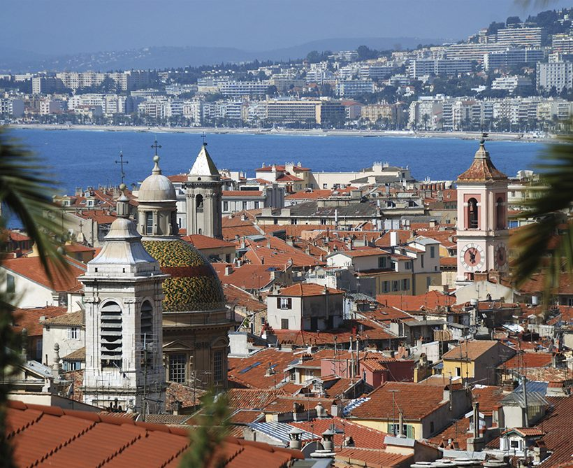 Cityscape of Nice, view from above