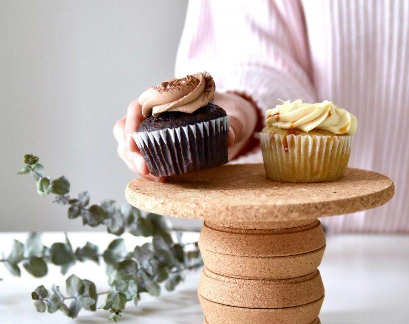 DIY : Een desserttoren van onderzetters in kurk