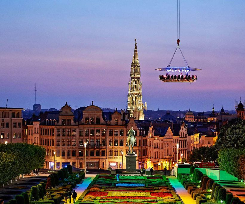 Dinner in the sky: gastronomisch dineren voor waaghalzen