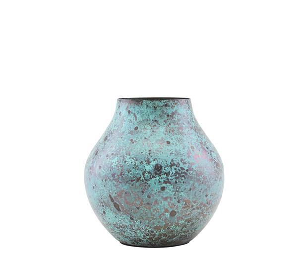 vaas-kojo-turquoise-oxyde_madeindesign_solden_objecten voor minder dan 50 euro