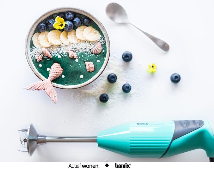 Hoe bereid je een zeemeermin smoothie bowl in 5 min?