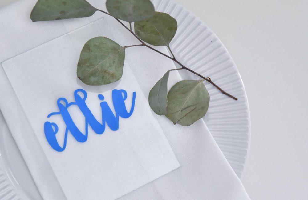 DIY: glazen naamkaartjes