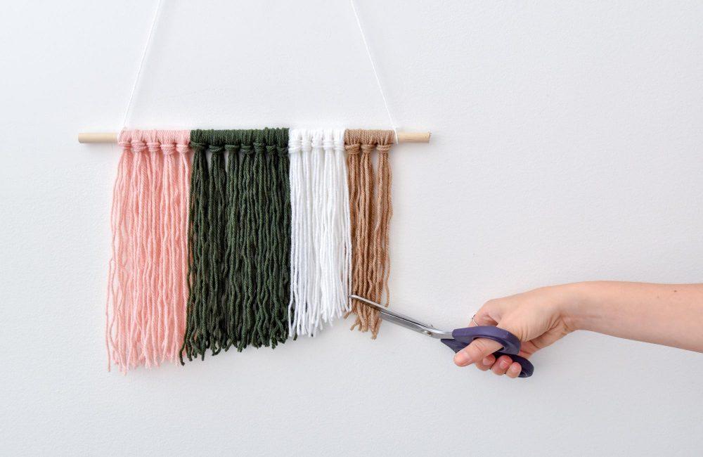 DIY: Een boho wollen wandhanger