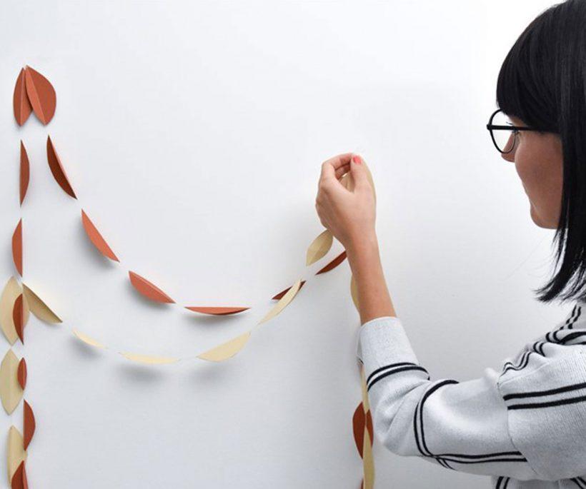 DIY: een papieren herfstslinger