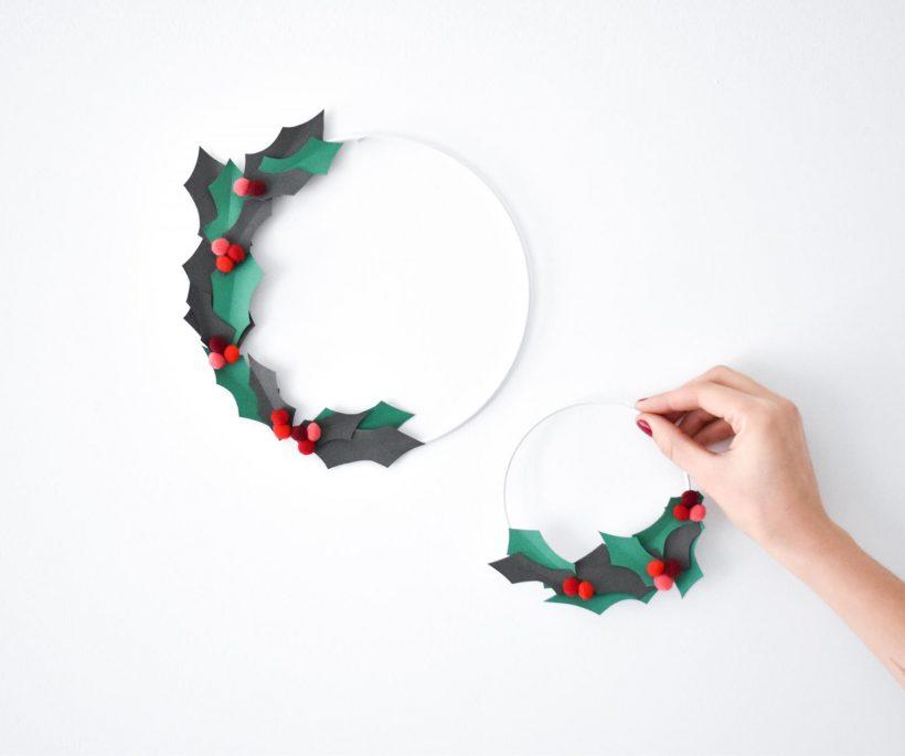 DIY: een papieren kerstkrans