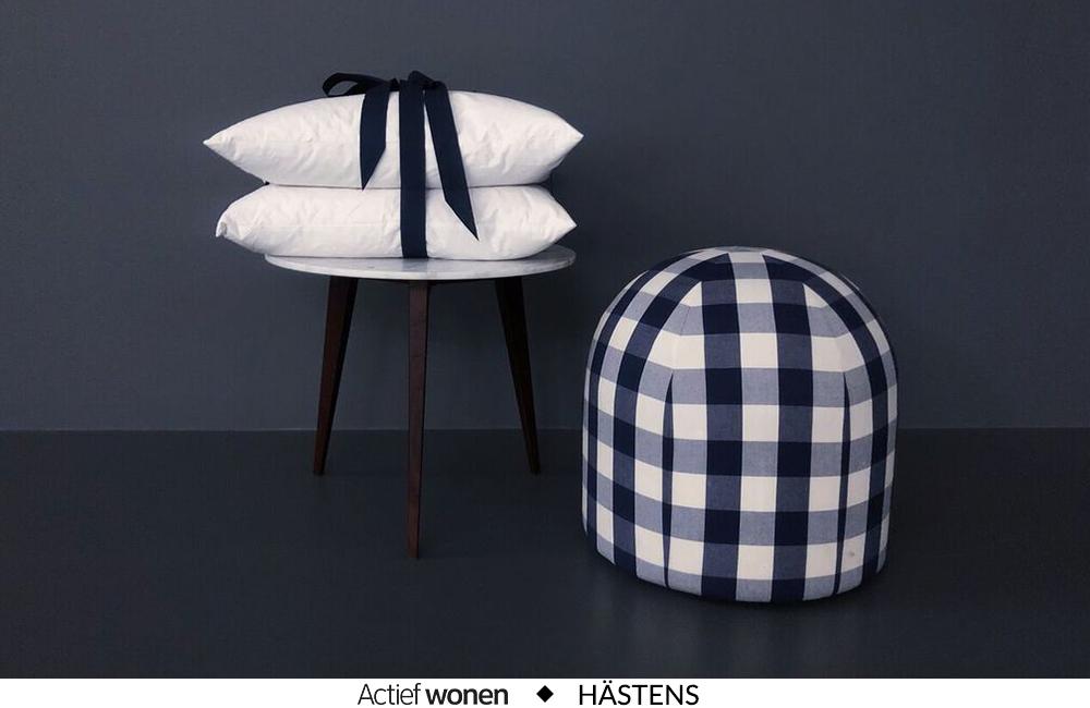 Voor Valentijn een hoofdkussen van Hästens ter waarde van 190€ en een nachtmasker