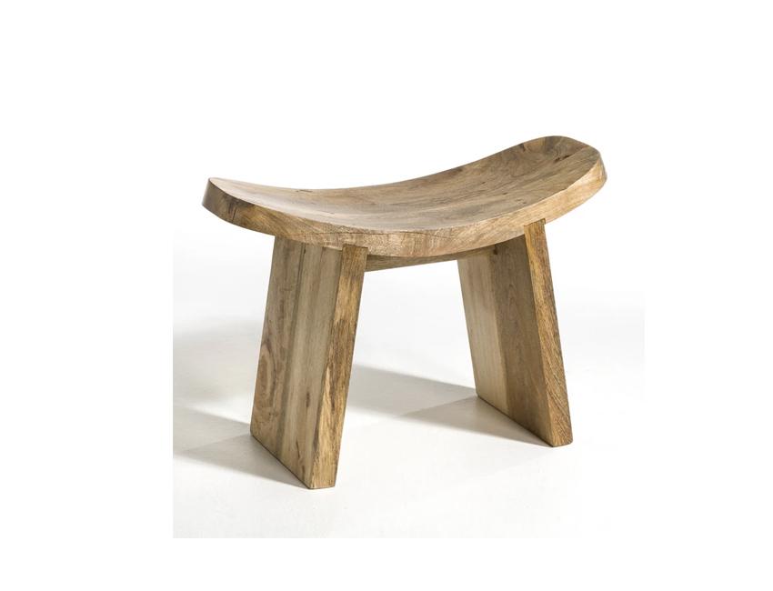 organische vorm kruk la redoute hout