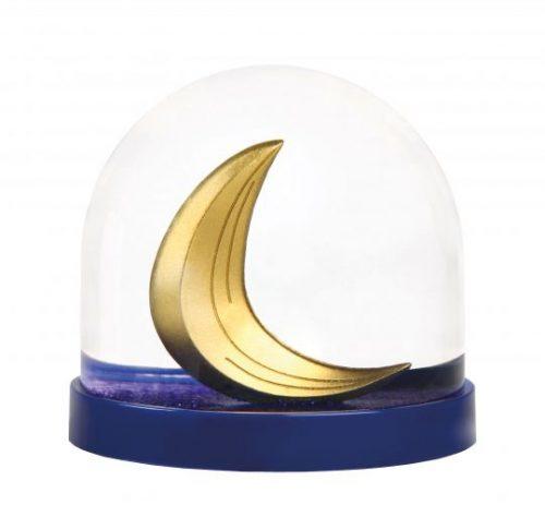 Sneeuwbal met maan made in design kleur van het jaar pantone
