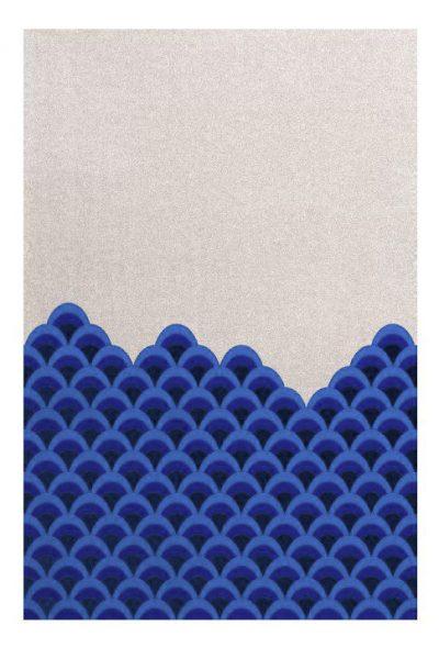 tapijt met grafische print made in design kleur van het jaar pantone
