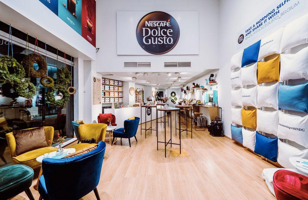 Zien: de Nescafé Dolce Gusto pop-up Coffee Bar op de Antwerpse Meir