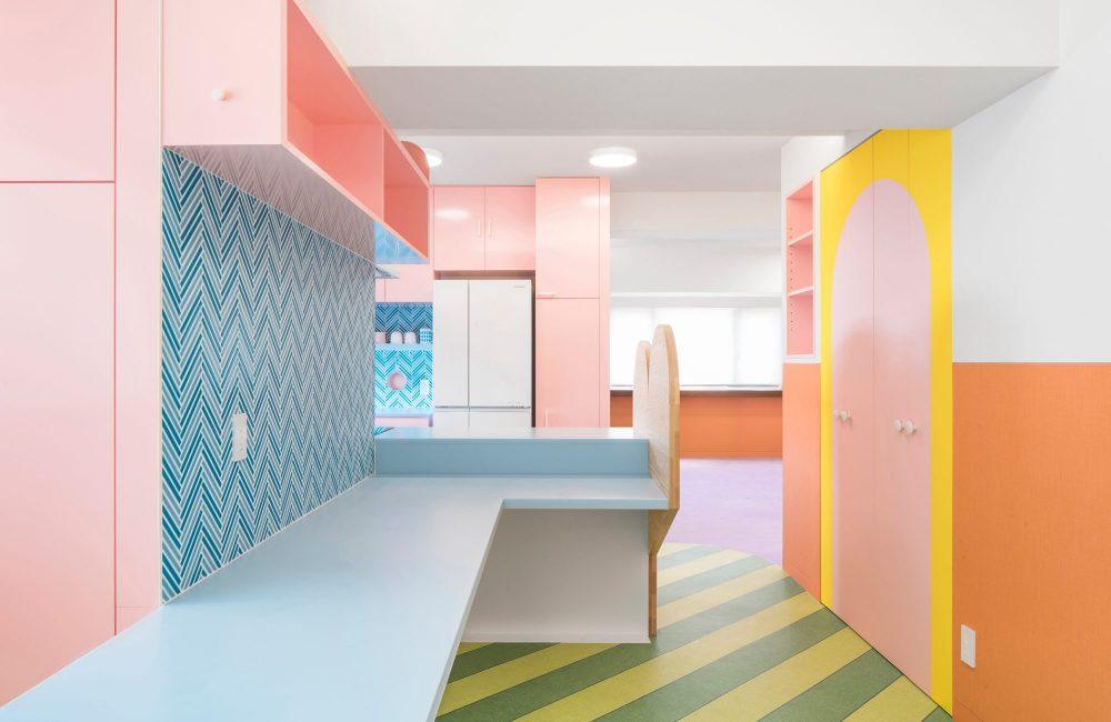 Zien: een multicolor appartement in hartje Tokio